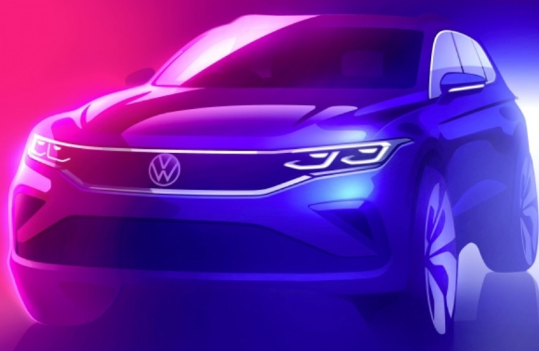 The front concept image of a 2021 Volkswagen Tiguan.