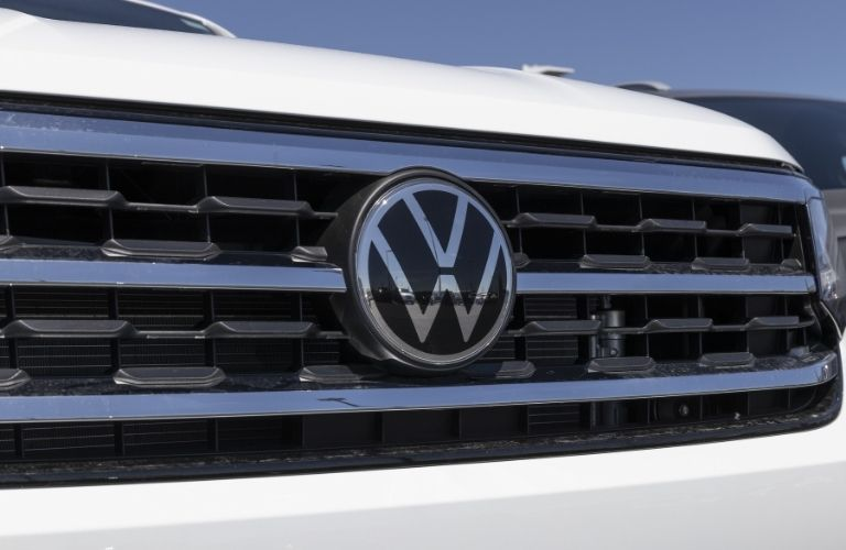 Volkswagen Logo on the front grill