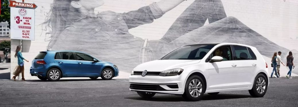 What are the technologies and safety features of the 2021 Volkswagen Golf?