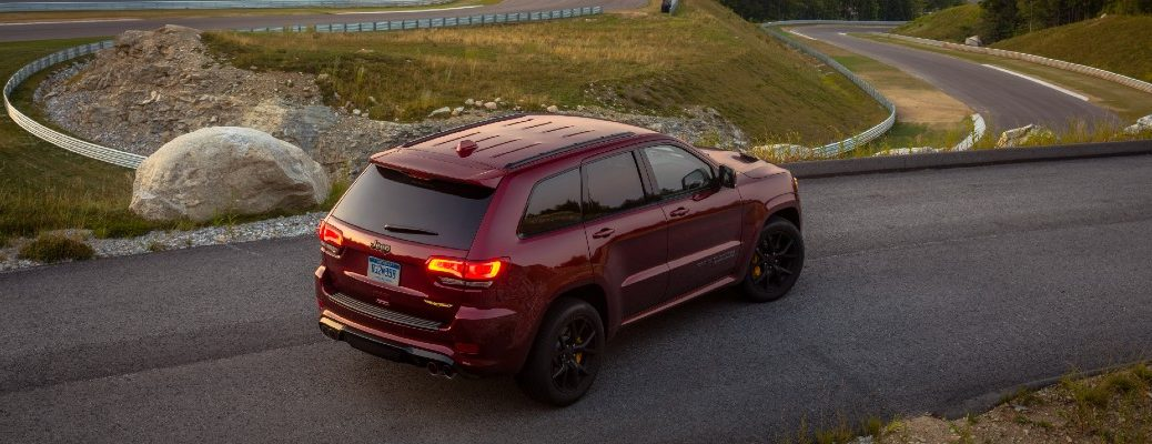 The 2021 Jeep Grand Cherokee parked on a road.