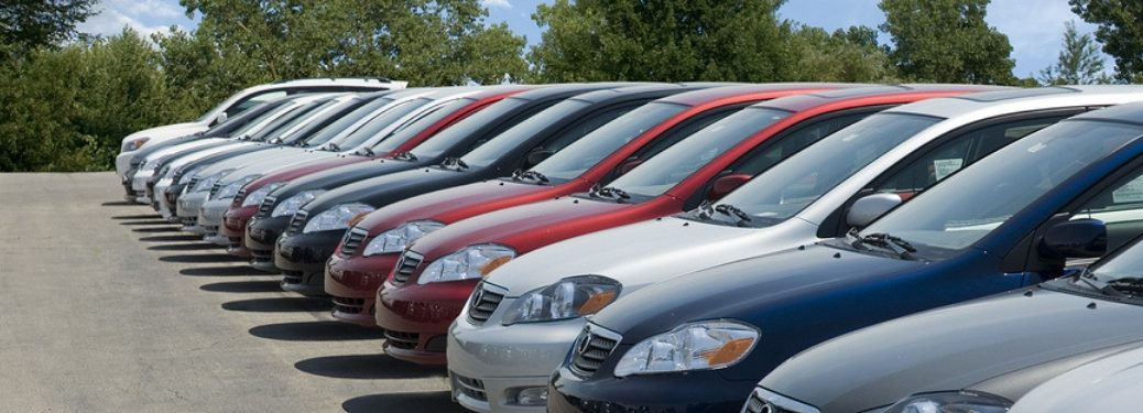 row of pre-owned vehicles