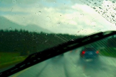 Wiper blade smearing while being used on a rainy drive