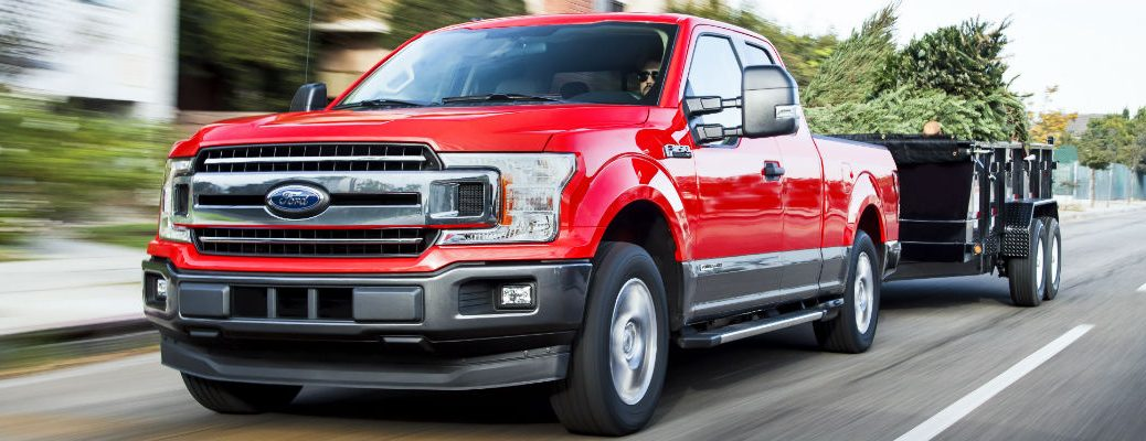 front view of a used red Ford F-150