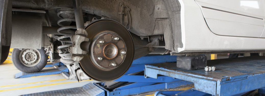 wheel and brake pad with no tire