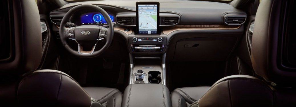 front interior of a used car