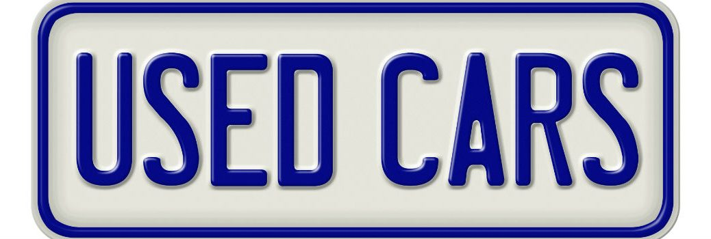 used car license plate