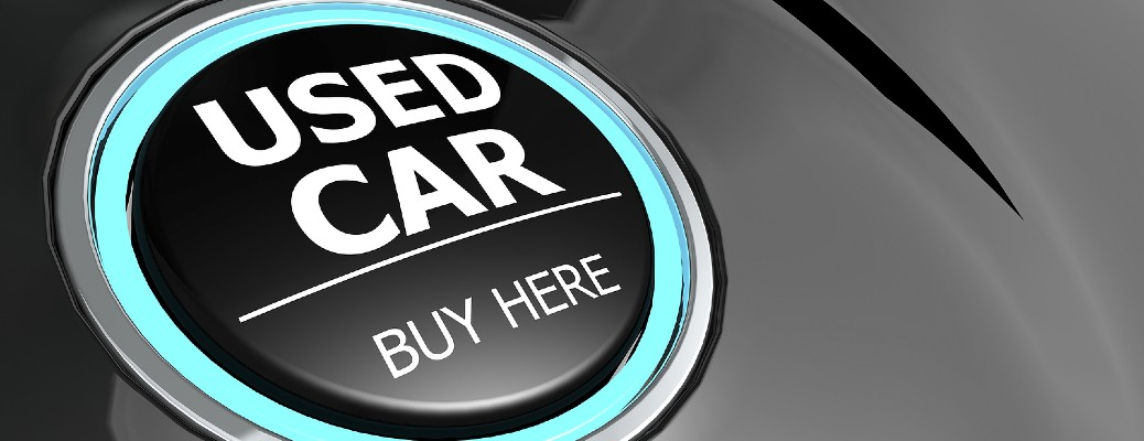 A button highlighted in light blue that reads Used Car Buy Here