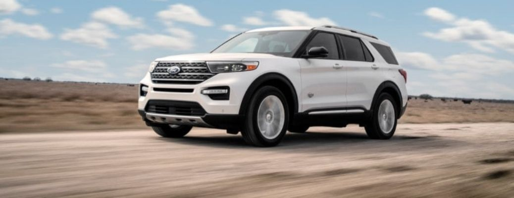 2021 Ford Explorer front quarter view
