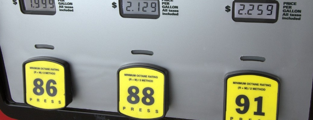 fuel prices at a gas station