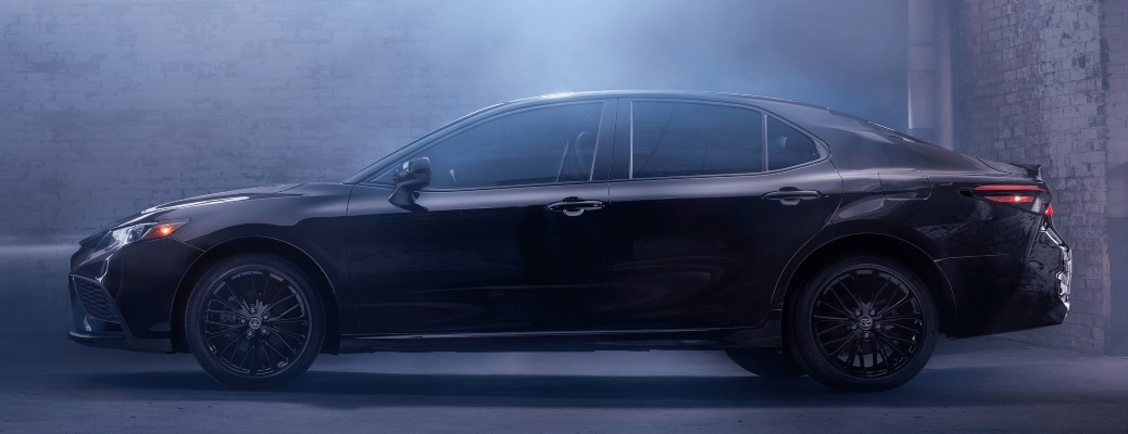 2021 Toyota Camry SE Nightshade Edition black side view