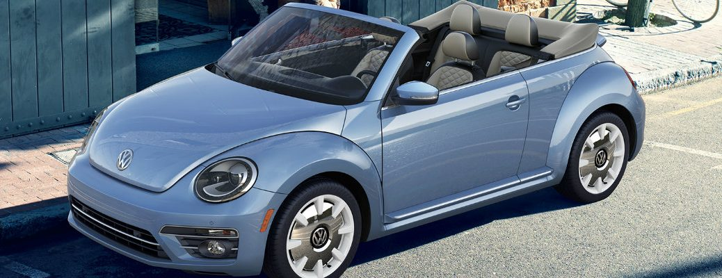 2019 Volkswagen Beetle Convertible Final Edition parked under a tree shade under the sun