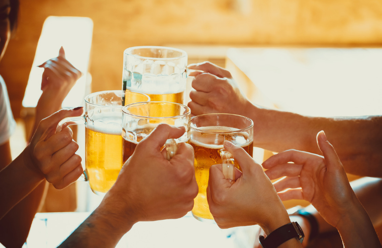 People making toasts with alcohol