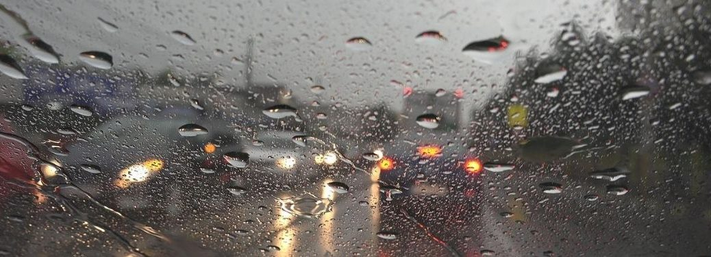 Cars driving during a storm