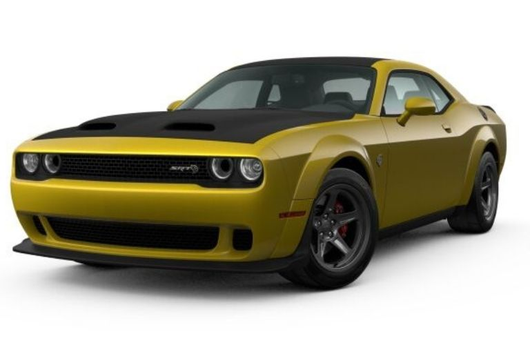 2021 Dodge Challenger exterior front fascia driver side Gold Rush