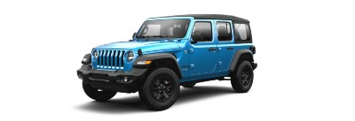 Hydro Blue  2021 Jeep Wrangler exterior front fascia driver side