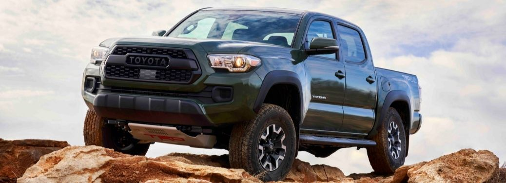 2021 Toyota Tacoma off-roading front left-quarter view