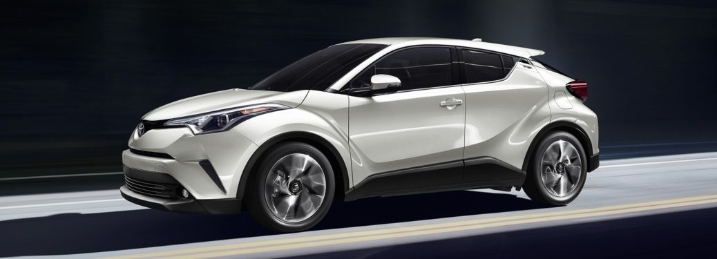 2019 Toyota C-HR white side view