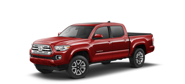 2019 Toyota Tacoma Barcelona Red Metallic side view