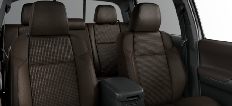 2019 Toyota Tacoma interior with hickory leather