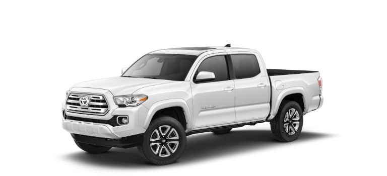 2019 Toyota Tacoma Super White side view