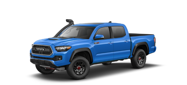 2019 Toyota Tacoma Voodoo Blue side view