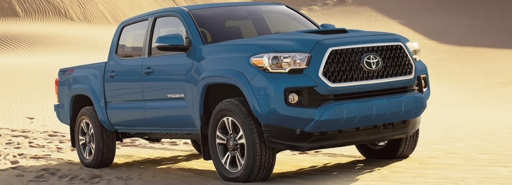 2019 Toyota Tacoma blue side view
