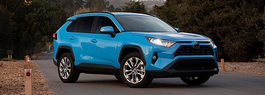 2019 Toyota RAV4 XLE Premium blue flame side view