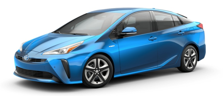 2019 Toyota Prius Electric Storm Blue