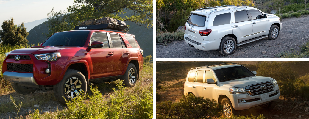 2019 Toyota 4Runner vs 2019 Toyota Sequoia vs 2019 Toyota Land Cruiser