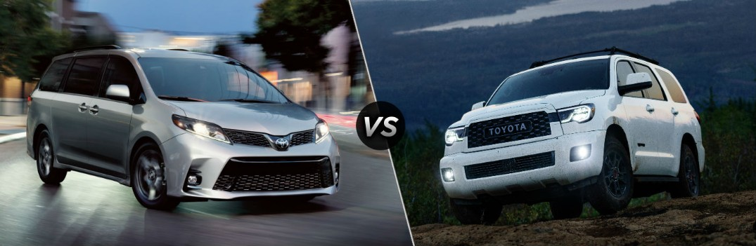 What are the Differences Between the 2020 Toyota Sienna and Sequoia?