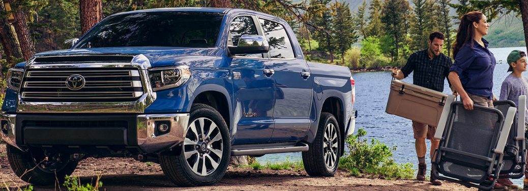 2020 Toyota Tundra with family