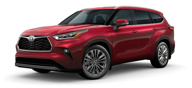 2020 Toyota Highlander in Ruby Flare Pearl