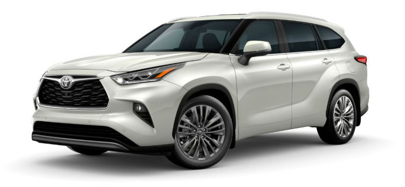 2020 toyota highlander available exterior colors and