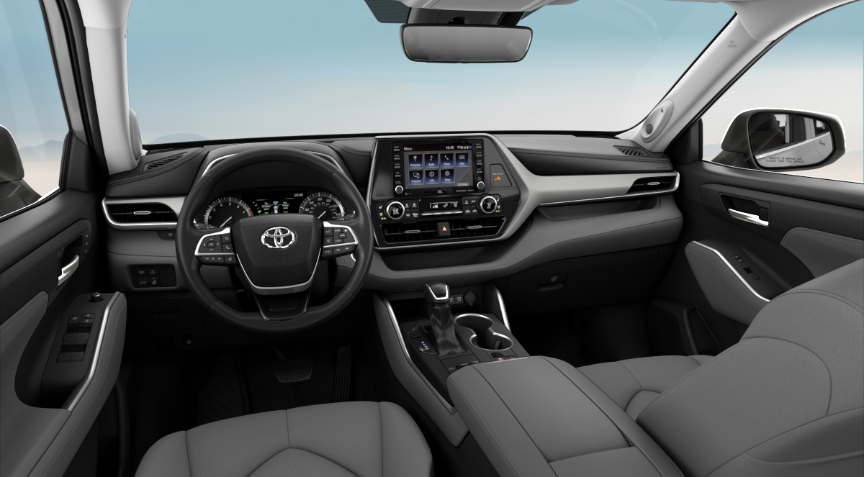 Harvest Graphite Leather in in 2020 Toyota Highlander
