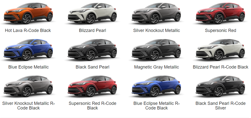 2020 Toyota C-HR Color gallery