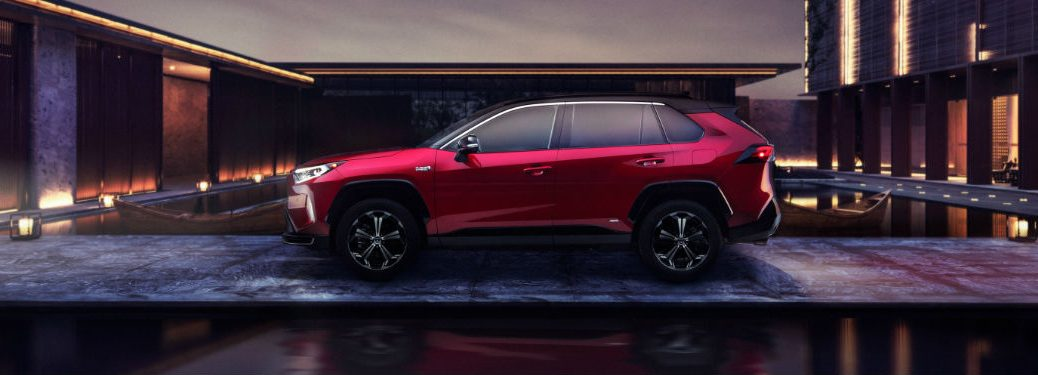 2021 Toyota RAV4 Prime sideview in red