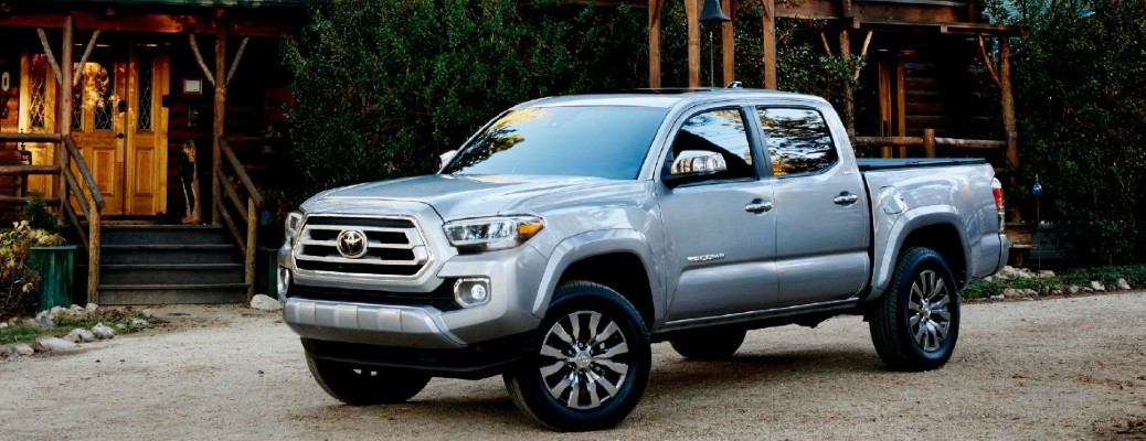2021 Toyota Tacoma parked outside a building