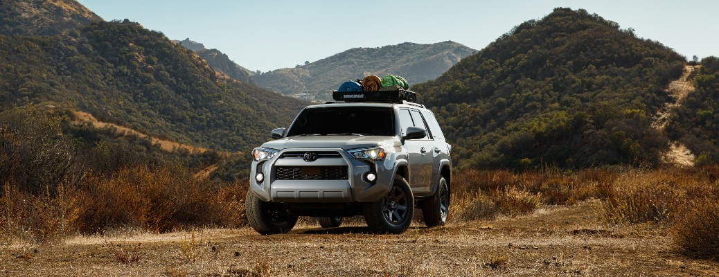 2021 Toyota 4Runner parked in front of mountain terrain