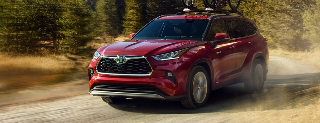2021 Toyota Highlander color red