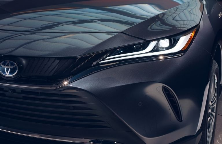 The headlight of the 2021 Toyota Venza.