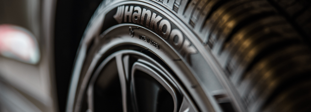 Close-up on a tire