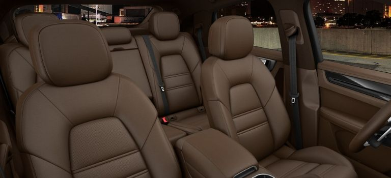 2020 Porsche Cayenne Coupe club leather interior in Truffle Brown