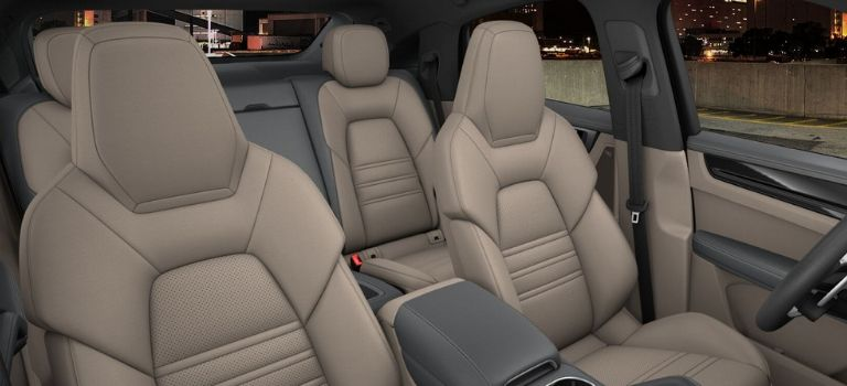 2020 Porsche Cayenne Coupe leather trim with leather seats in Slate Grey and Mojave Beige