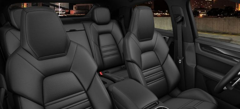 2020 Porsche Cayenne Coupe leather trim with leather seats in Black