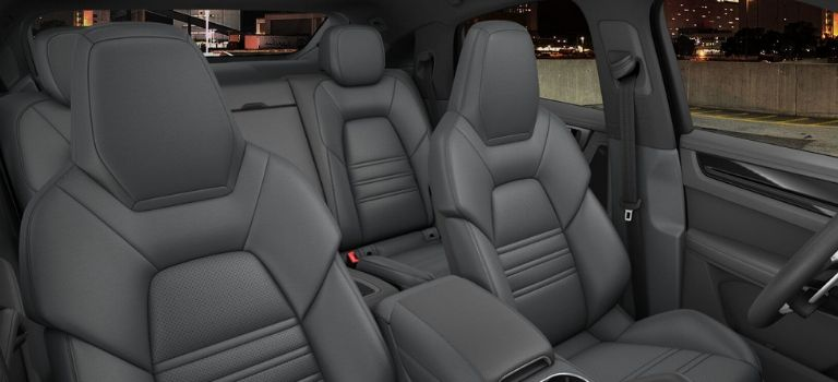 2020 Porsche Cayenne Coupe leather trim with leather seats in Slate Grey