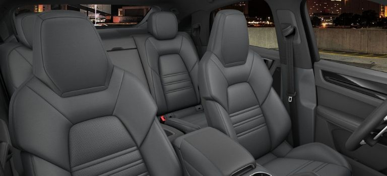 2020 Porsche Cayenne Coupe standard trim with leather seats in Slate Grey