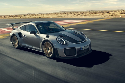 2020 Porsche 911 GT2 RS driving on a track
