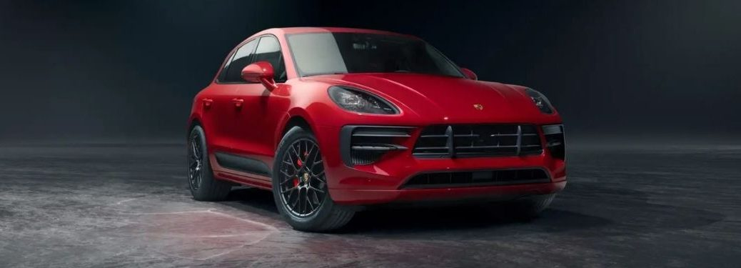 2021 Porsche Macan Red Front and Side View