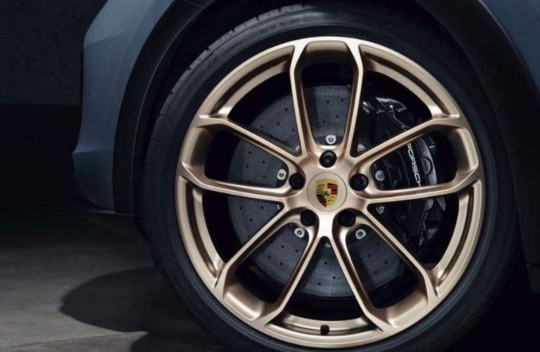 A close-up shot of a wheel of the Turbo GT