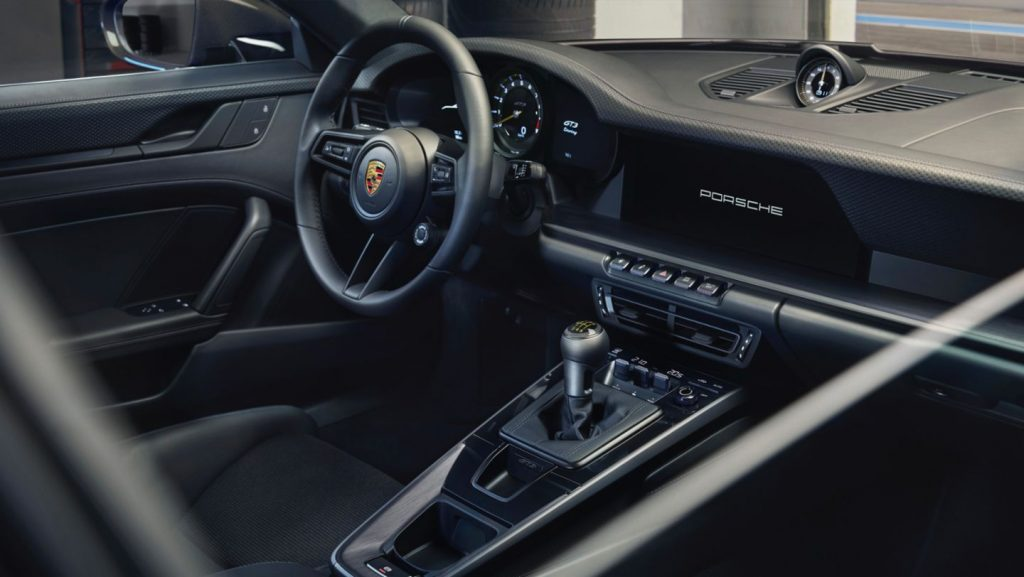 The interiors of the 911 GT3